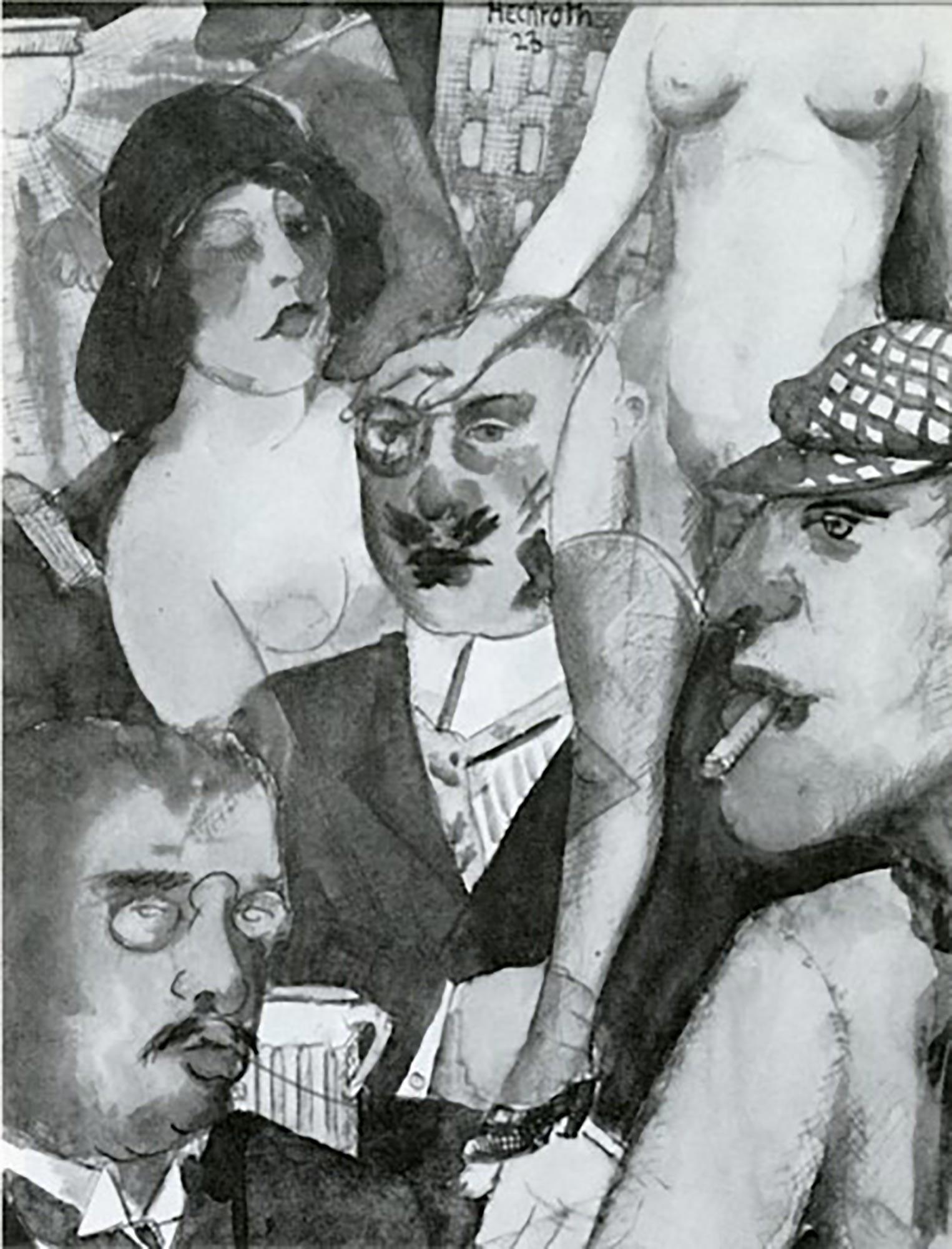 8 Hein Heckroth, Synthese, 1925, Tuschfeder und Aquarell, 29 x 22 cm