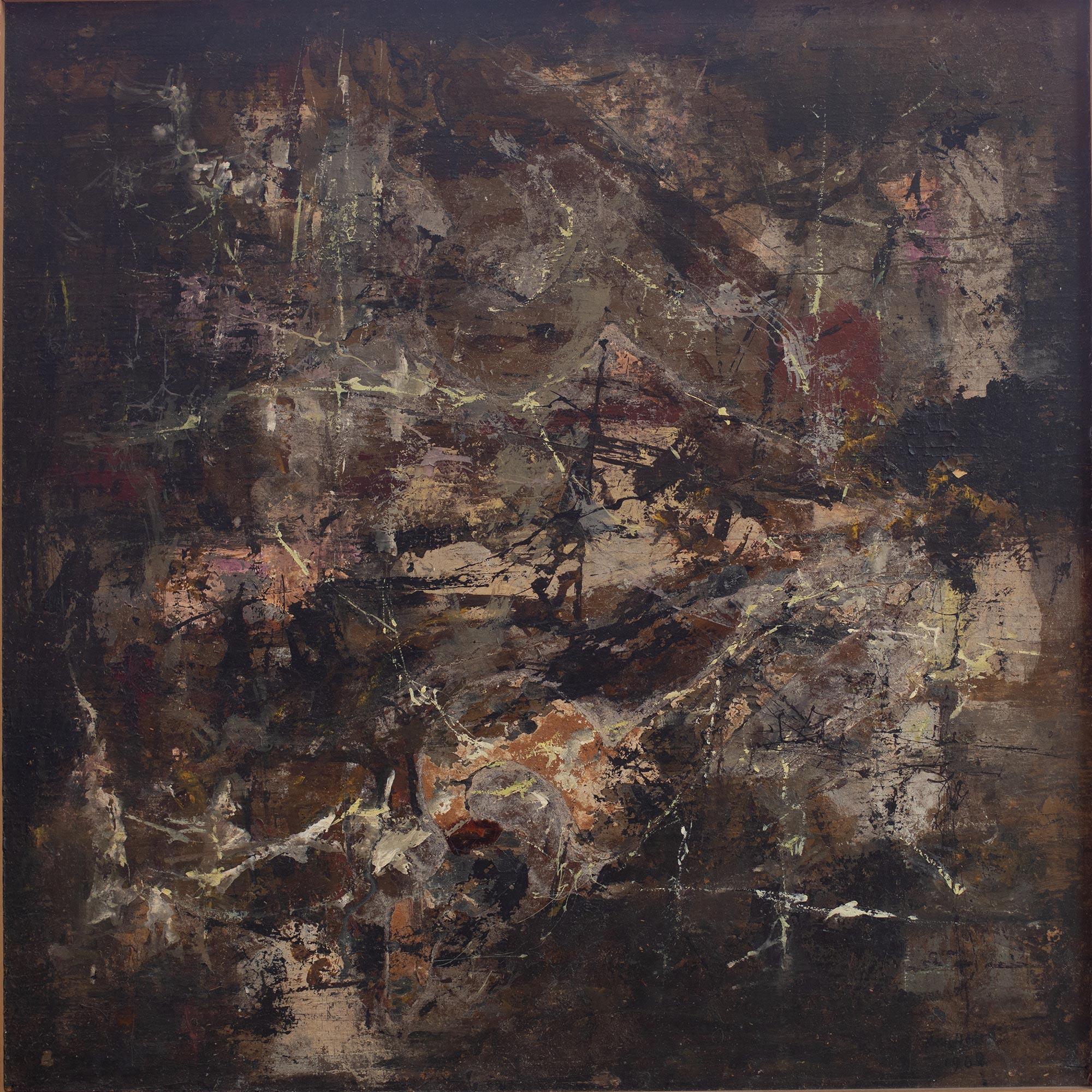 12 Hein Heckroth, Fluoreszenz, 1960, Tempera und Öl auf Spanplatte (?), 68 x 67,5 cm, Privatbesitz