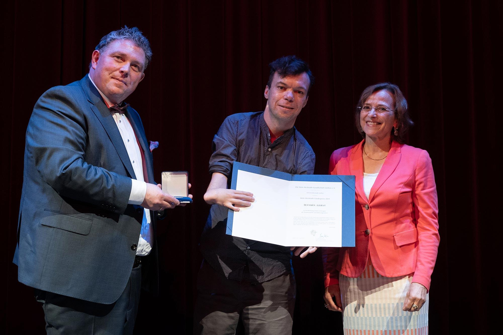 Dr. Marcus Kiefer, Manuel Gerst, Oberbürgermeisterin Dietlind Grabe-Bolz