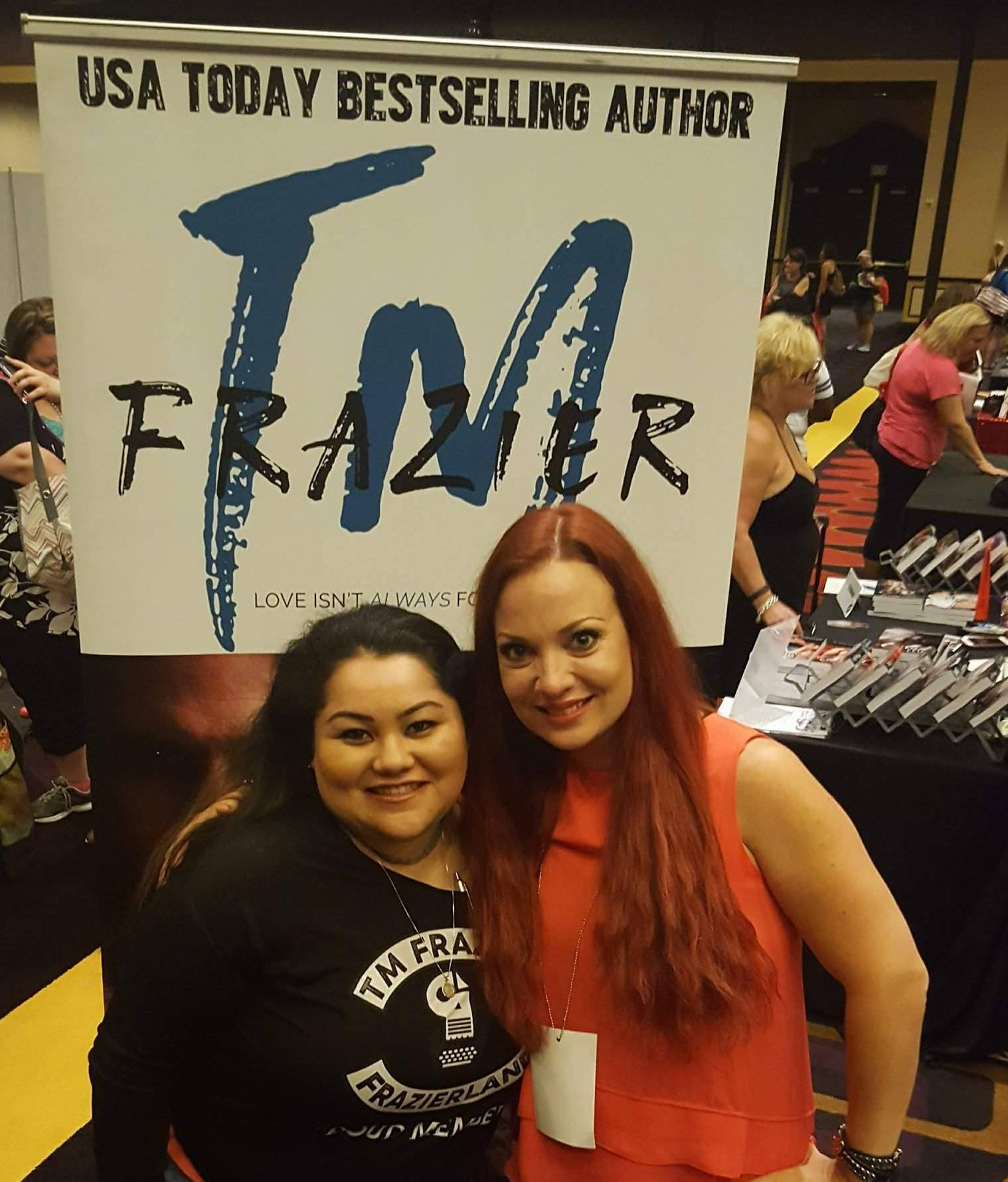 TM Frazier and Aracely from Reading After Dark book blog