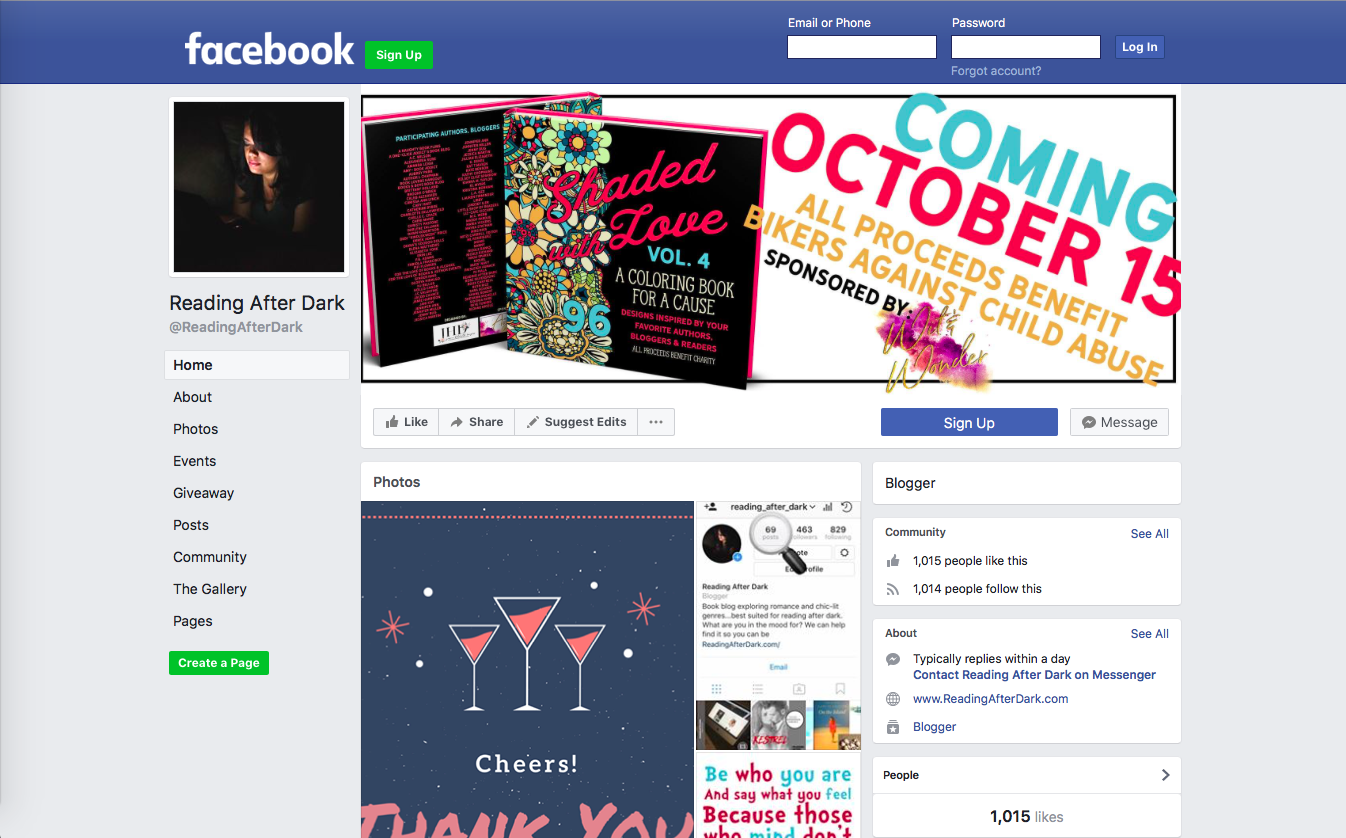 Reading After Dark Facebook Fan Page E-book Giveaway