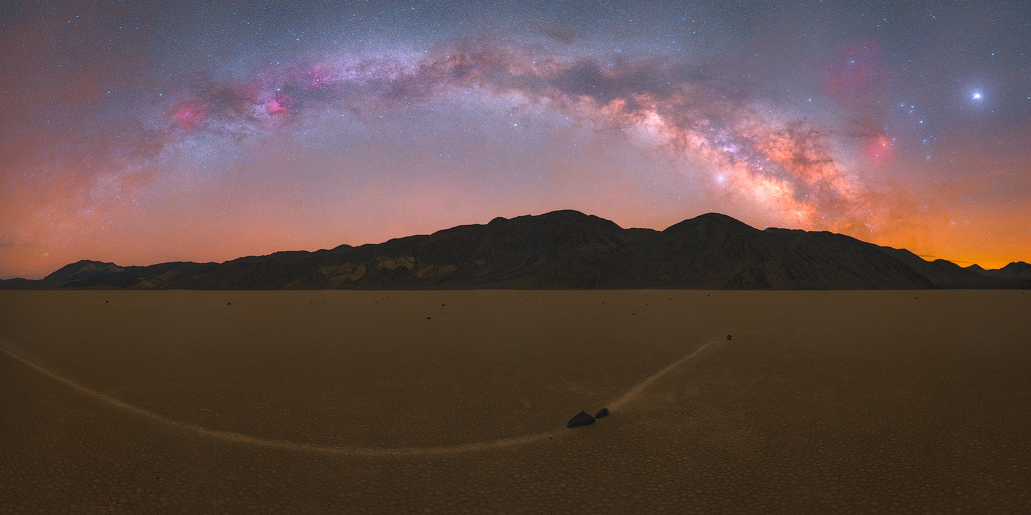 Sailing stones under the night sky. CLICK TO ENLARGE