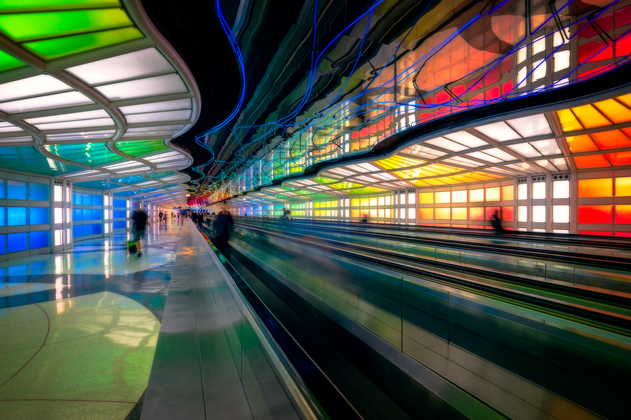 Sky's the Limit by Michael Hayden - O'Hare International Airport - Terminal 1 between concourse B and C