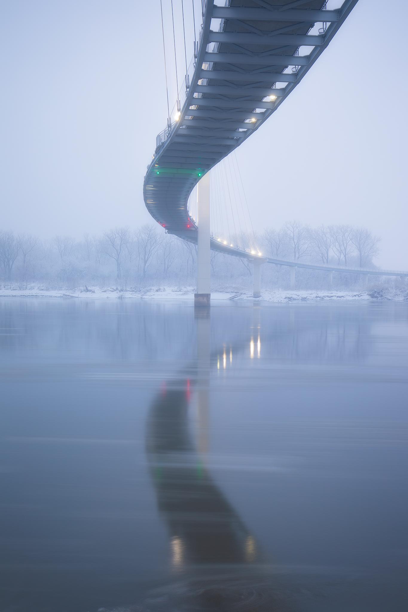 Bob Kerry Pedestrian Bridge - 35mm - ISO 100 - f/7.1 - 3.2 sec.