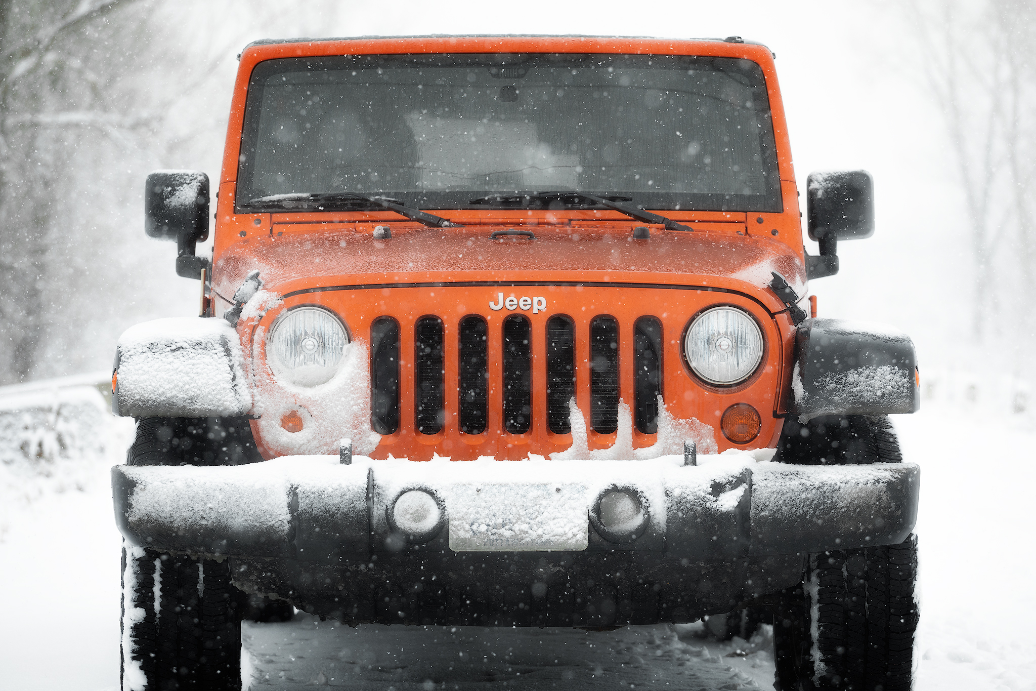 My Jeep was happy to play in the snow = ) - Handheld - 126mm - ISO 640 - f/5 - 1/800