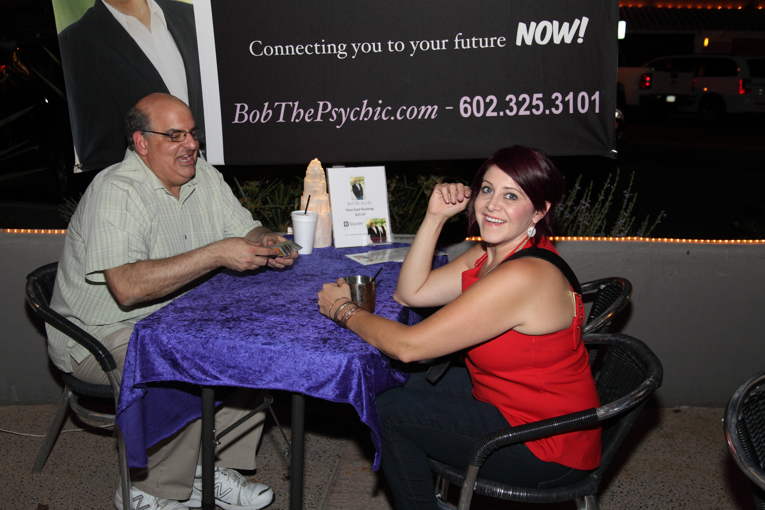Bob the Psychic & Lindsay with All Done Up Salon