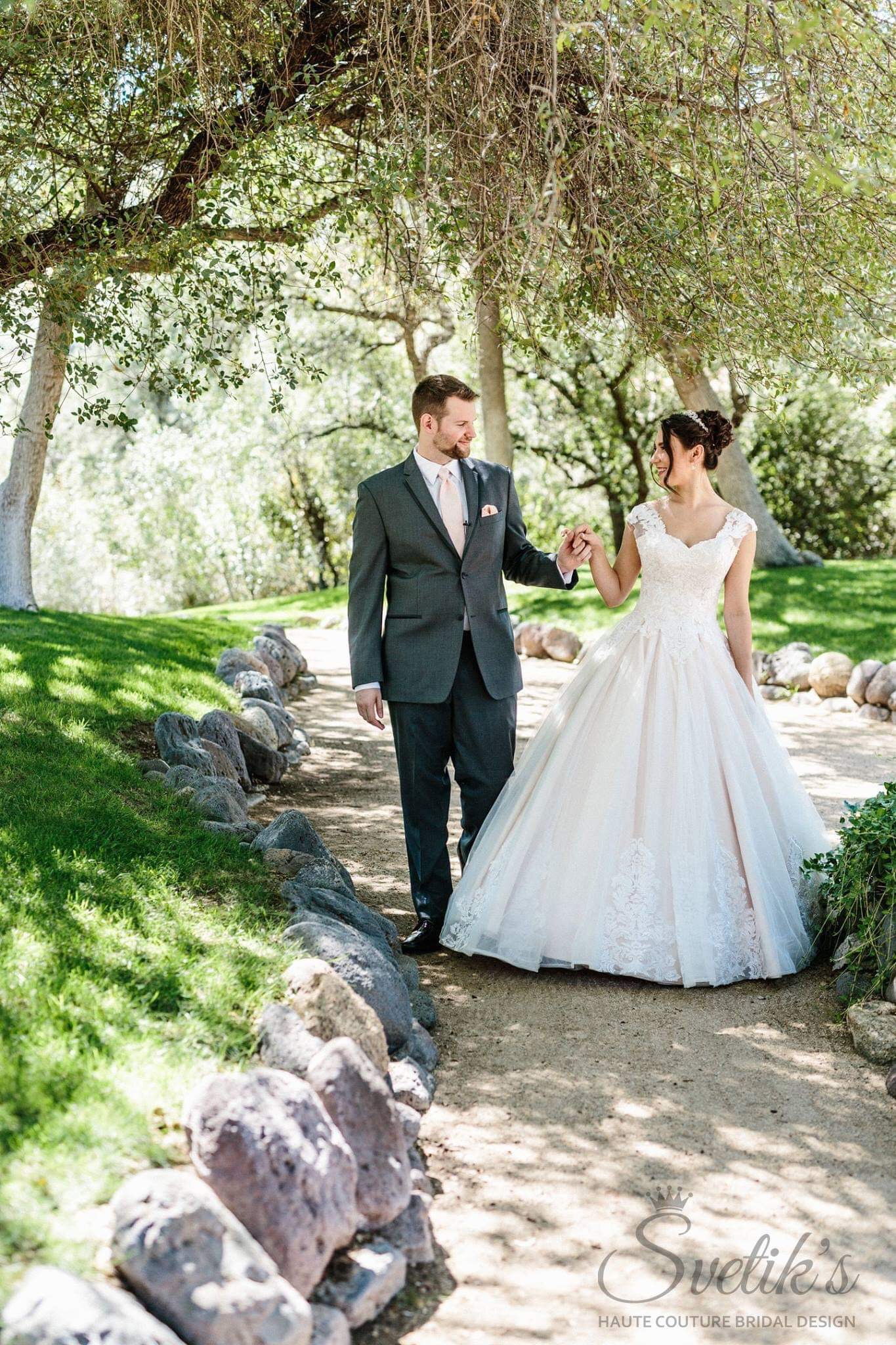 """Enchanted Rose"" Ballroom Wedding Gown Photo Credit: Hannah Rose Photography"