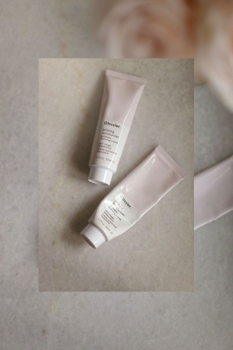 Glossier Priming Moisturizer - I've never invested in a makeup primer and likely won't ever need to thanks to this priming moisturizer. It glides on smoothly onto the surface of my skin and preps it for my sunscreen and foundation. The consistency is light and smoothes over the skin without causing oil to produce.