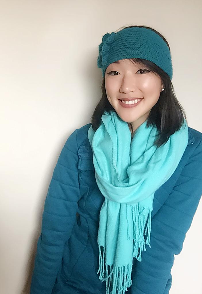 Coat: North Face / Scarf: Amazon / Headband: Handmade by Mom! / Lipstick: Elf Matte Lipstick in Praline