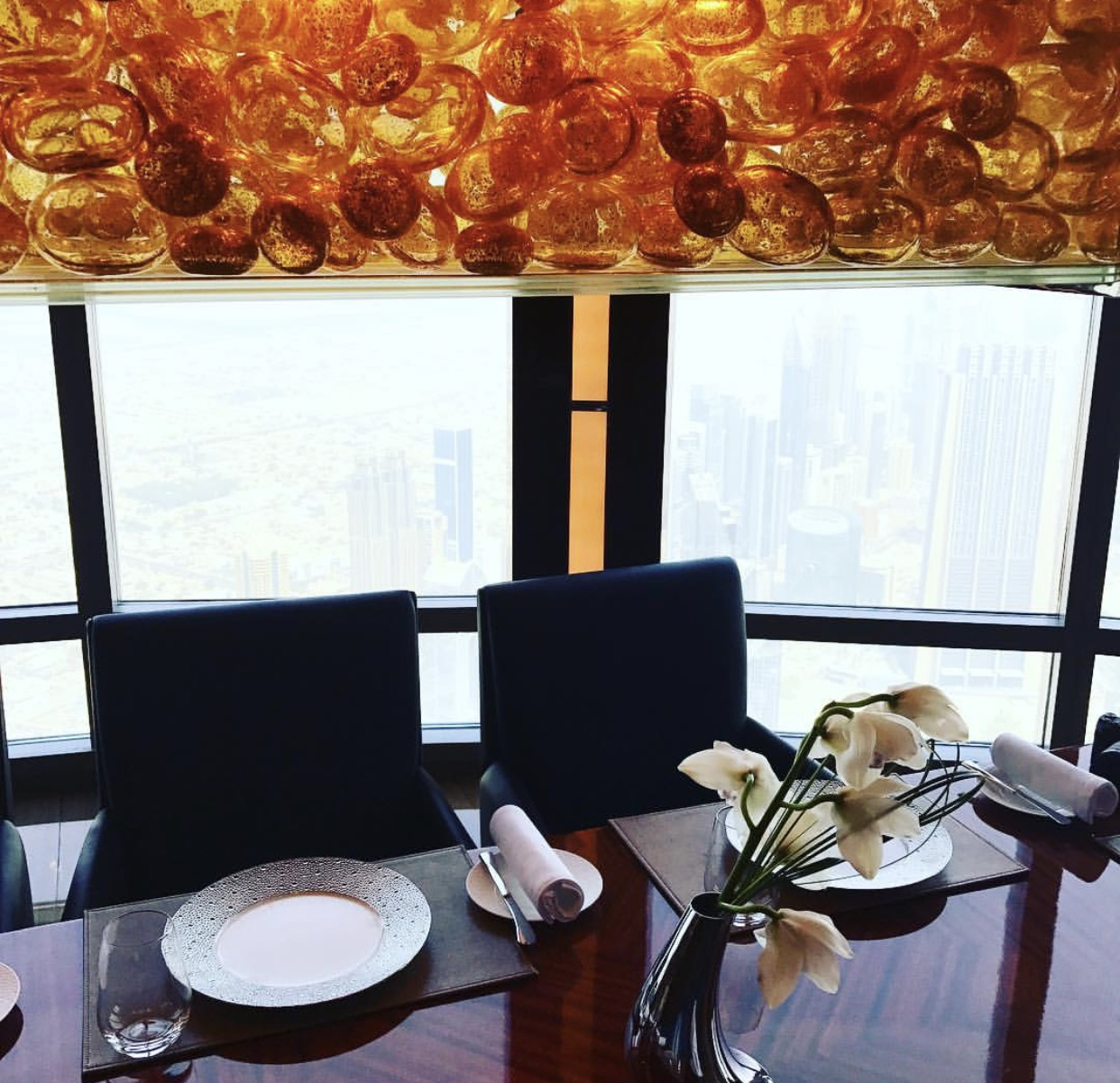 The private dining space at atmosphere