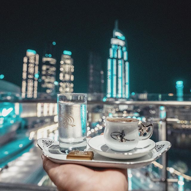 Anatolian cuisine , Moreish dishes a special Iftar set menu and great views of Burj Khalifa and The Dubai Fountain. It's all going well down here @huqqadubai