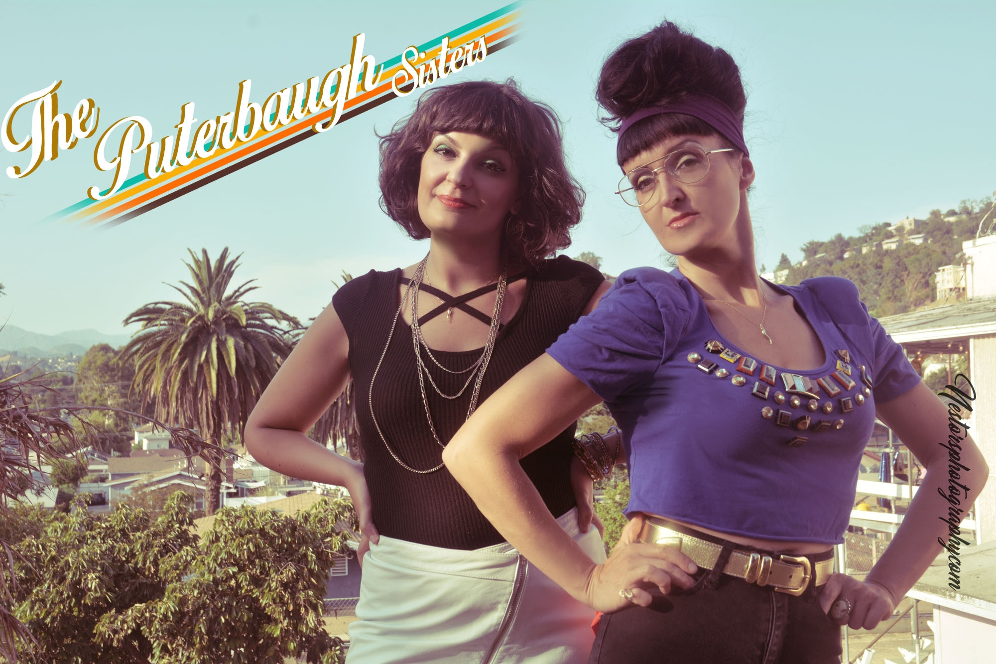"""The Puterbaugh Sisters, Tiffany and Danielle Puterbaugh are the first alternative sister duo act since vaudeville. Real life sisters, they're parents relationship has failed but they're act will not. Originally from Chicago and currently based in LA. """"Taking they're shtick into absurdist parallel universes...it works 100% of the time."""" - The Onion AV Club, """"Named Chicago Comics to Watch"""" -Chicago Magazine You've seen these sisters everywhere, featuring at CVS and headlining Walgreens. They've opened for Kyle Kinane, Bridgette Everett and Beth Stelling. They've also performed at TBS Just For Laughs Festival, Riot LA, """"Best Bars in America"""" (Esquire), Benzen Ball Comedy Festival (DC), High Plaines (Tru TV), All Jane (Portland) and Chicago/NY/San Fran Sketchfest. They produce a critically acclaimed show """"Entertaining Julia"""" now in its 10th year. It's like watching Sister Act 2, when everyone comes out and raps about God."""