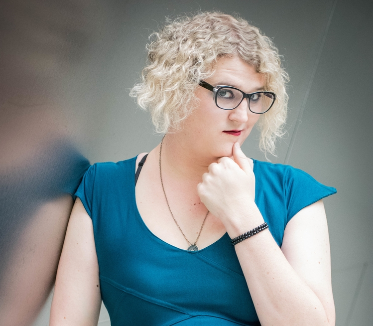 """Highlighted by VICE for her """"wry observational comedy, radical openness, and casually inviting demeanor,"""" Riley Silverman has been seen on Take My Wife, Comedy Central's Not Safe with Nikki Glaser, and headlining 2017's Portland Queer Comedy Festival and the All Jane Comedy Festival. Her debut comedy album, Intimate Apparel, was a #1 best seller on Amazon. Riley is the head writer for the International Waters comedy panel show podcast, was a body diversity model for the fashion brand ModCloth, and was listed as one of 100 Queer Women We Love by GO Magazine, and """"10 Women Comedians Who Smash the Patriarchy"""" by The Culture Trip."""