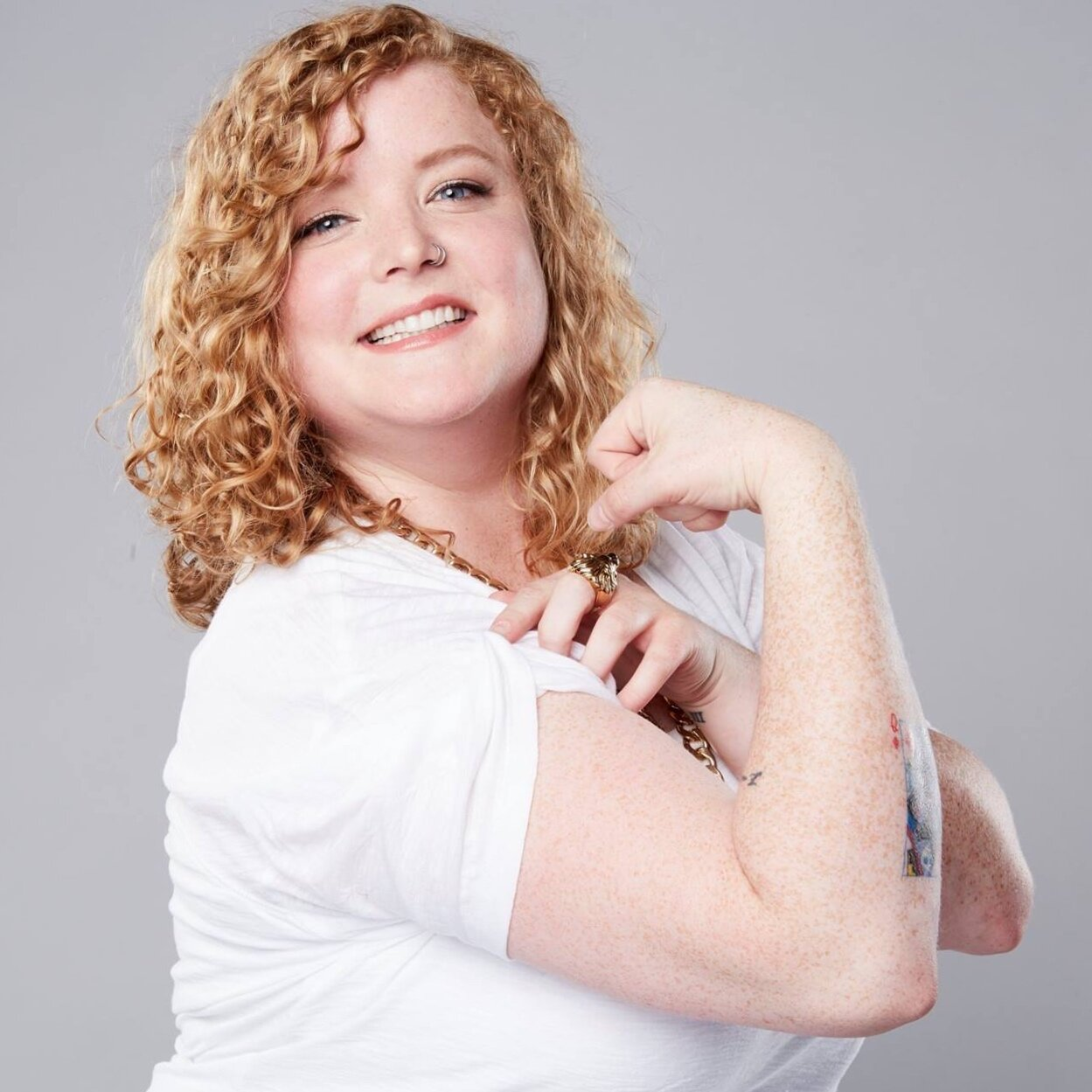 """Minnesota native Rachel Scanlon is a stand-up comedian, writer and co-host of the weekly podcast/live show """"Two Dykes and A Mic"""". Rachel shares her stories about being a Midwest gal living in Los Angeles, and singing her way out of the closet. She is also a ranch dressing enthusiast. She has performed all over the country including The Comedy Store, The Hollywood Improv, Acme Comedy Club, Punchline Comedy Club, and many more. In 2018, Fullscreen premiered her first comedy special """"Rachel Scanlon is Hot & Hungry"""".  """"Rachel Scanlon is a comedic breath of fresh Midwest air. She's high energy, absurdly positive, and your new comedy crush."""""""