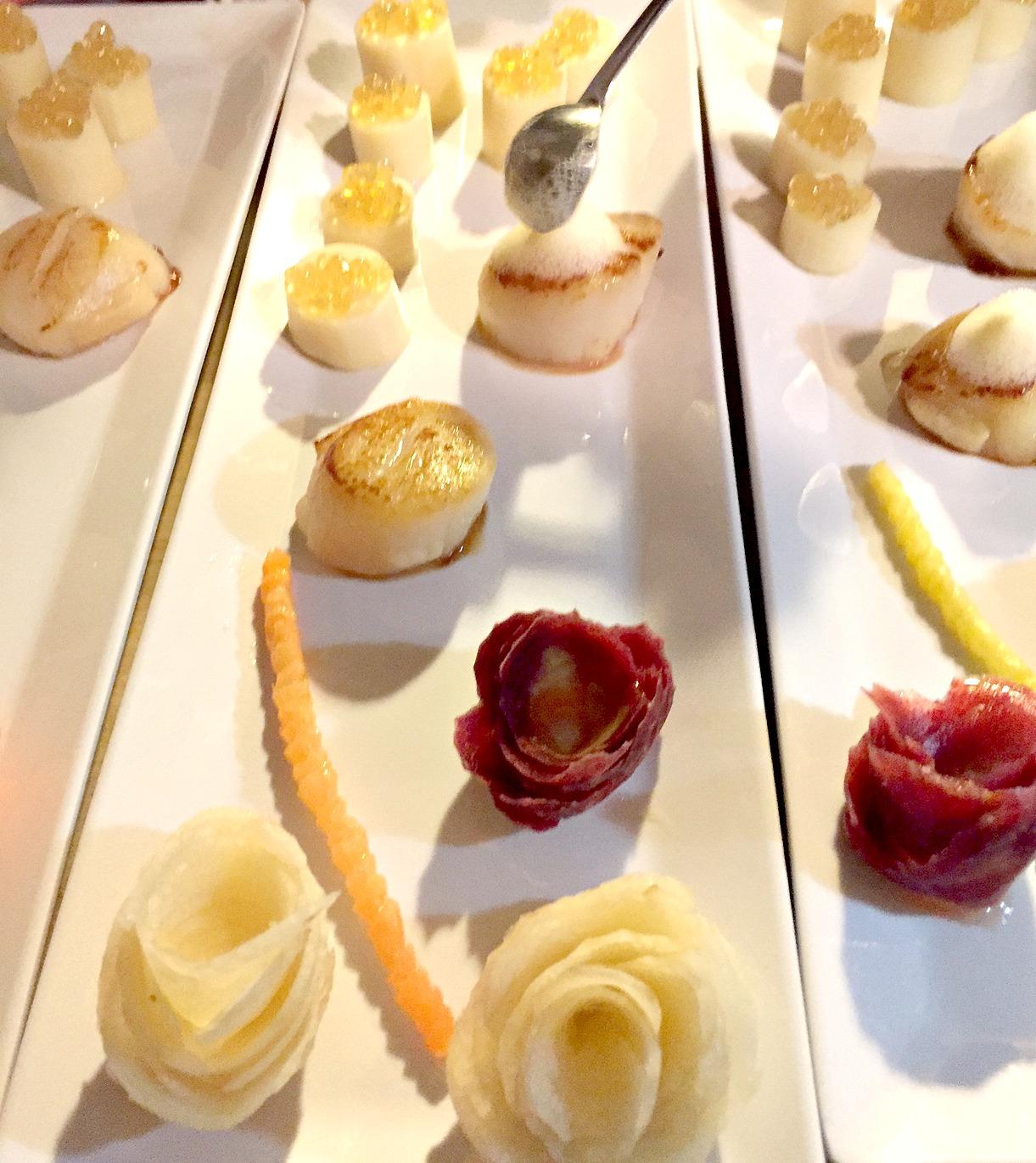 Chef Rose's Scallops with Lemon Foam  Hearts of Palm .jpg