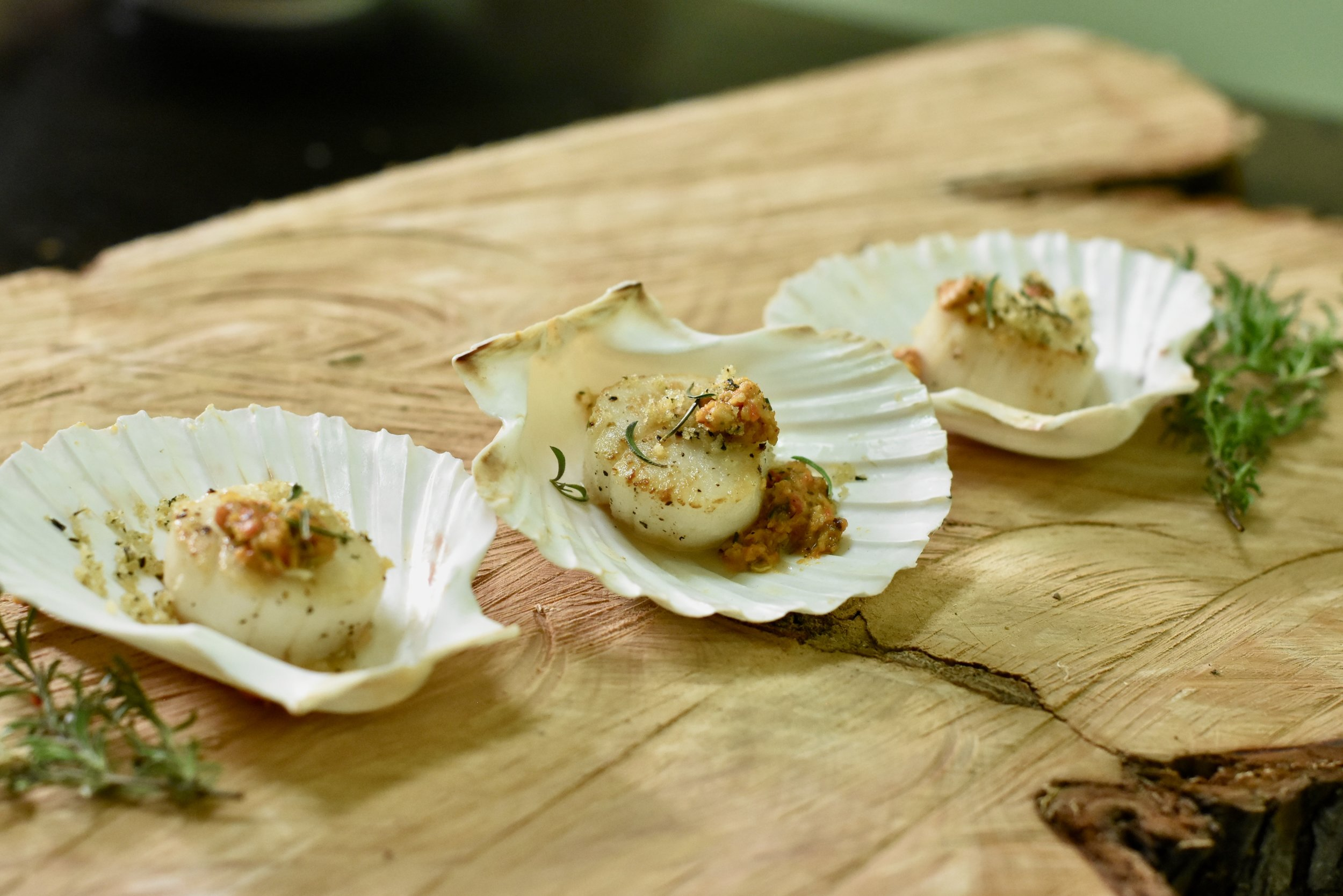 Seared Scallops/Hazelnut Brown Butter