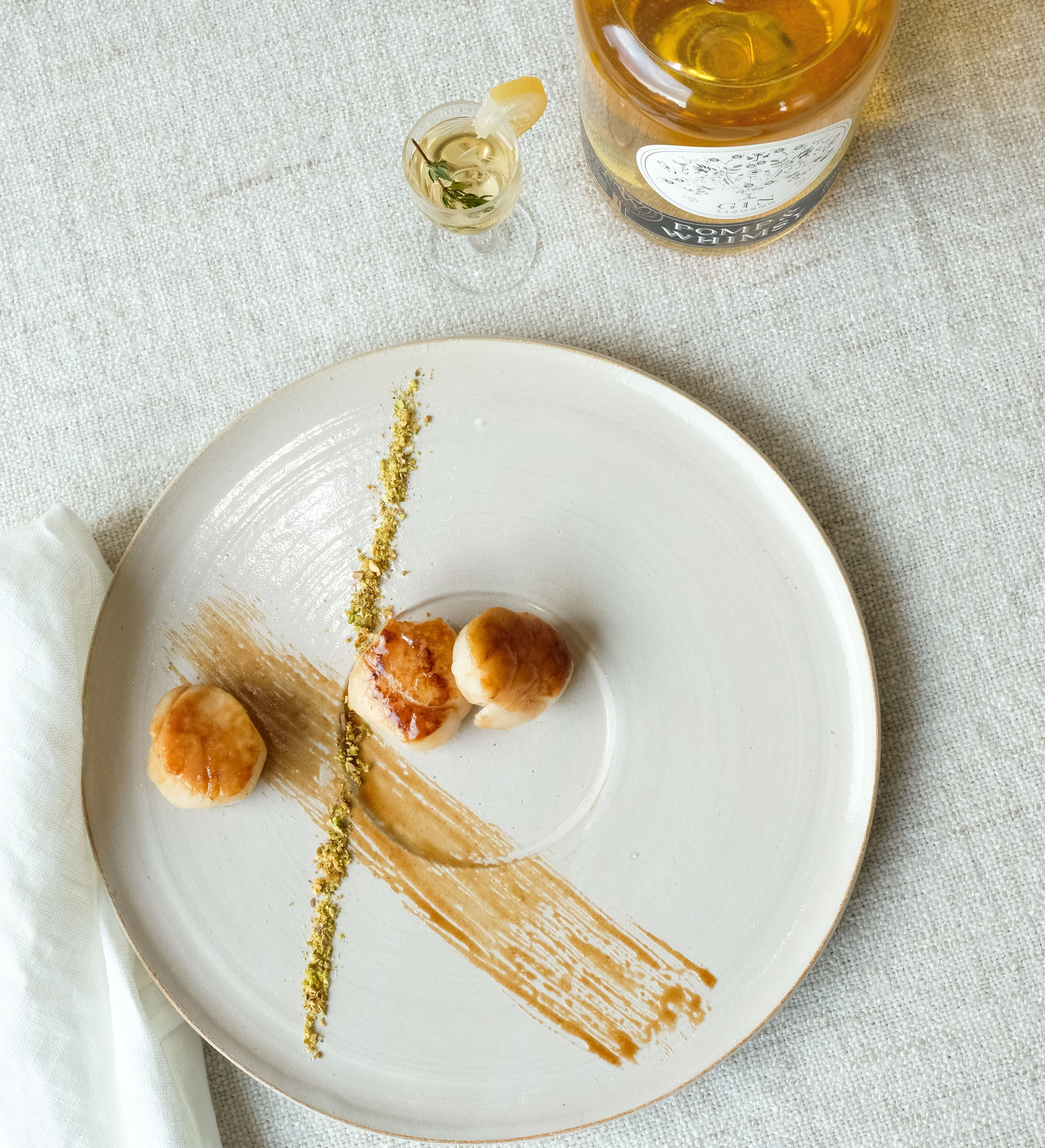 Seared Scallops in Brown Butter Pomp & Whimsy Pan Sauce (Bessie Lacap Photography)