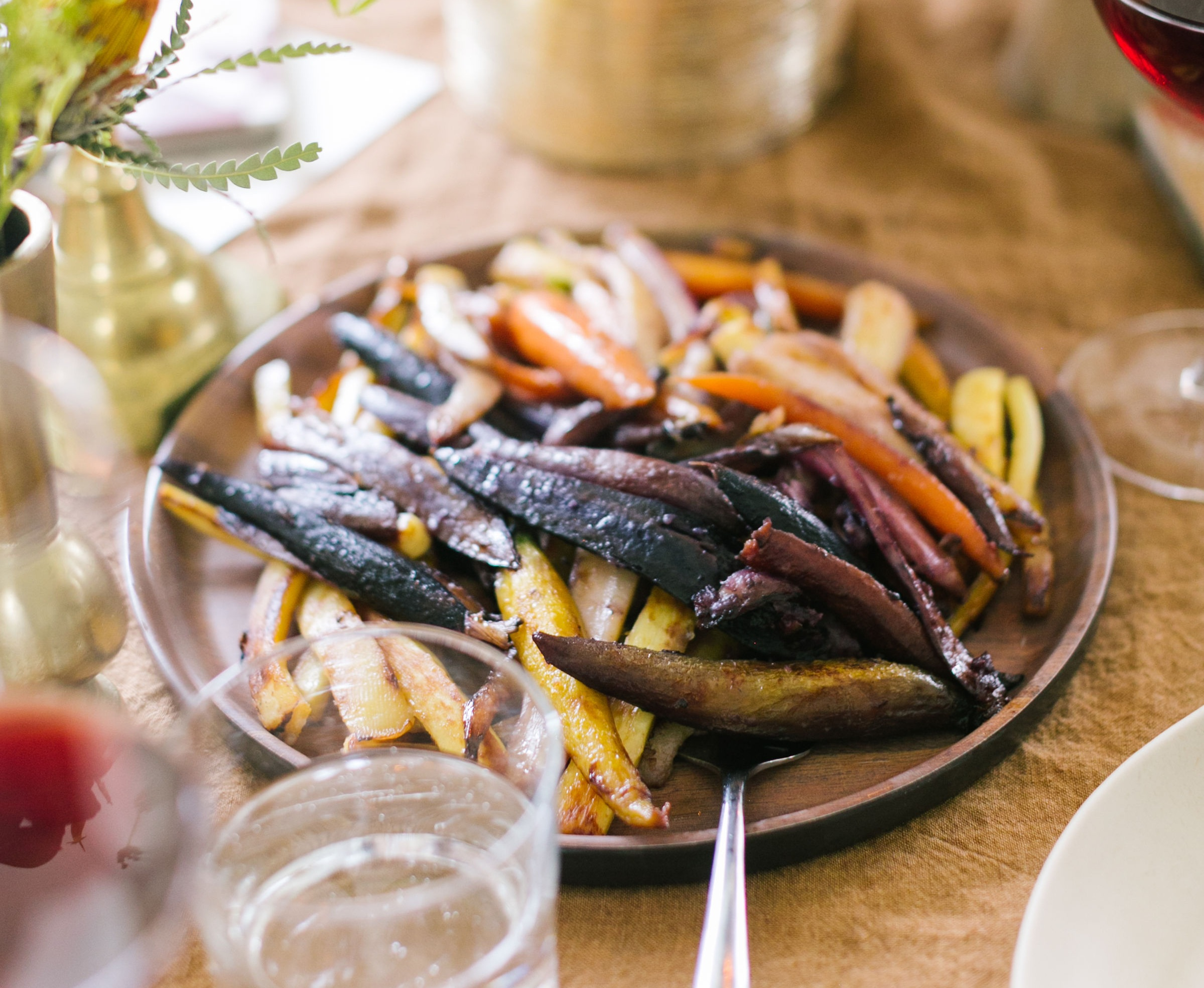 Butter-glazed Rainbow Carrots (photo by Olivia Williamson)