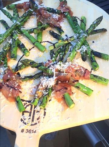 Tapas: Grilled Asparagus/Iberico Ham/Parmigiano Reggiano
