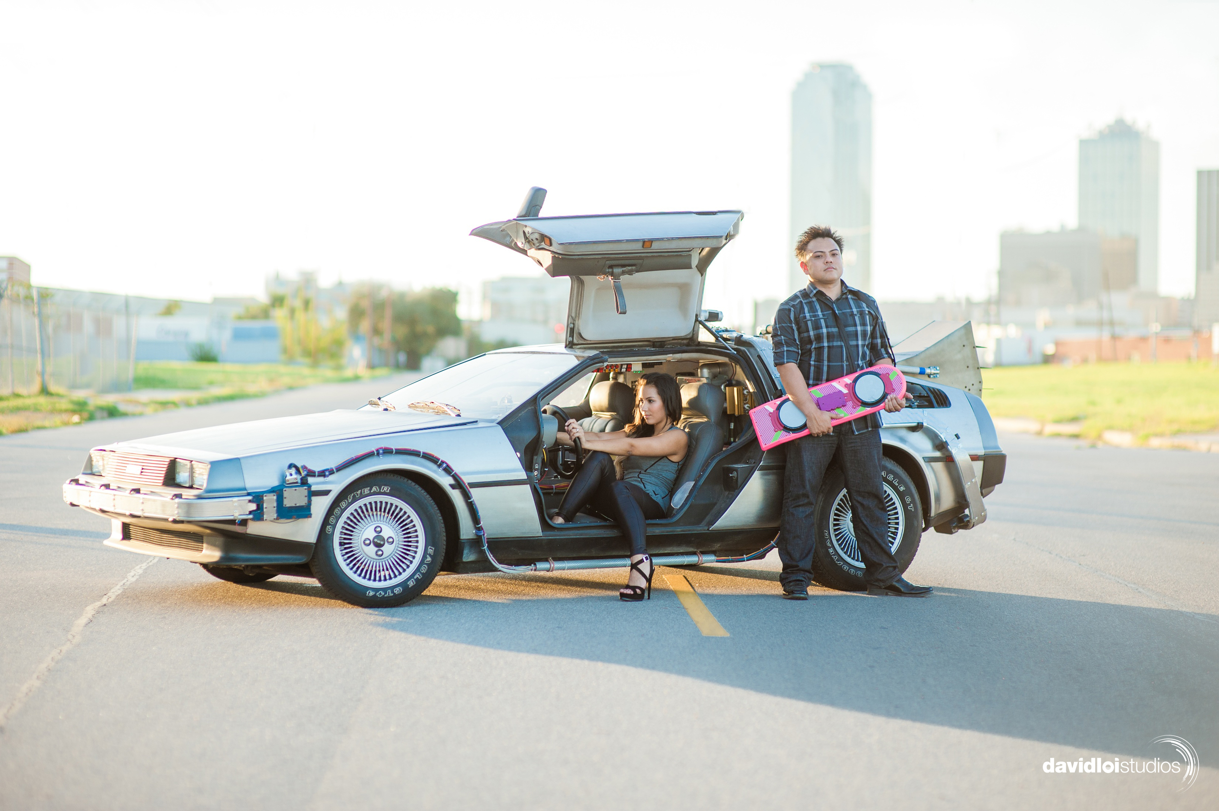 Back to the Future Engagement Session Dallas TX.jpg