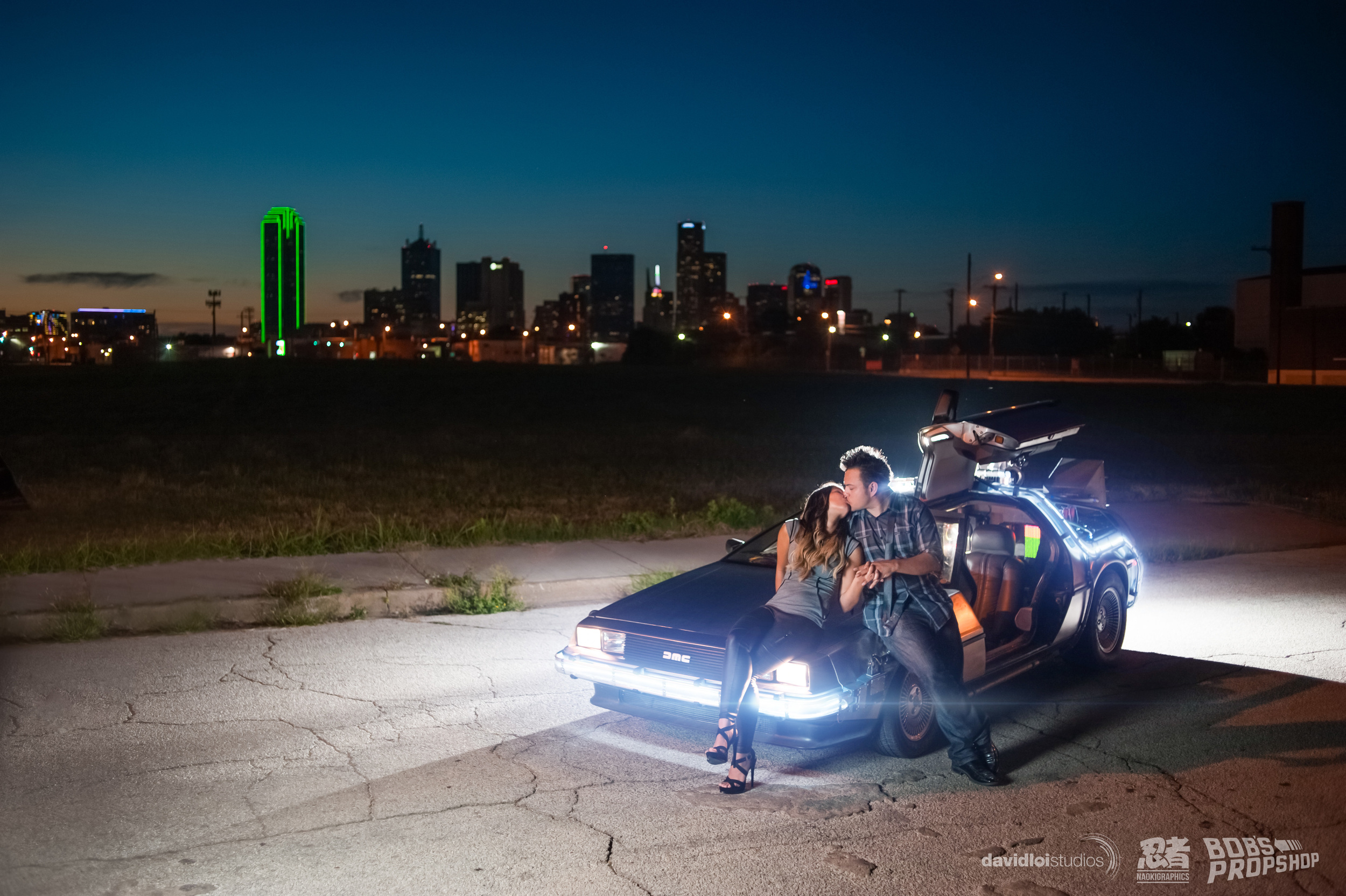 Back to the Future Engagement Session Dallas TX - 8.jpg