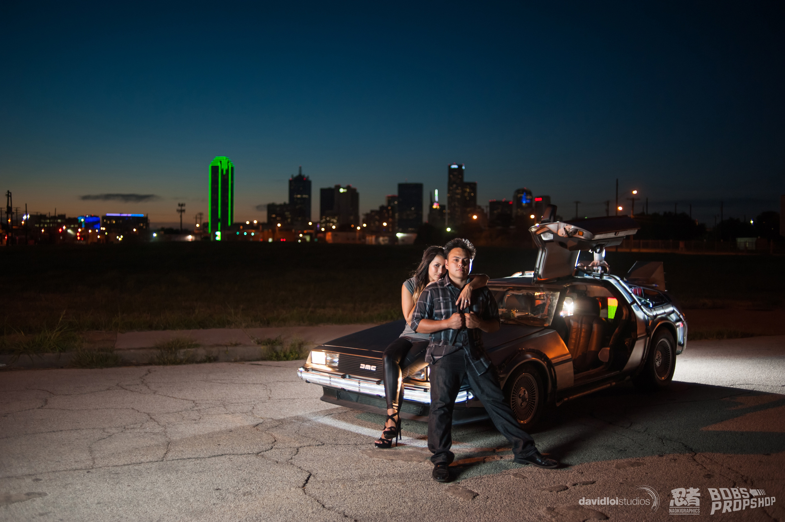 Back to the Future Engagement Session Dallas TX - 10.jpg