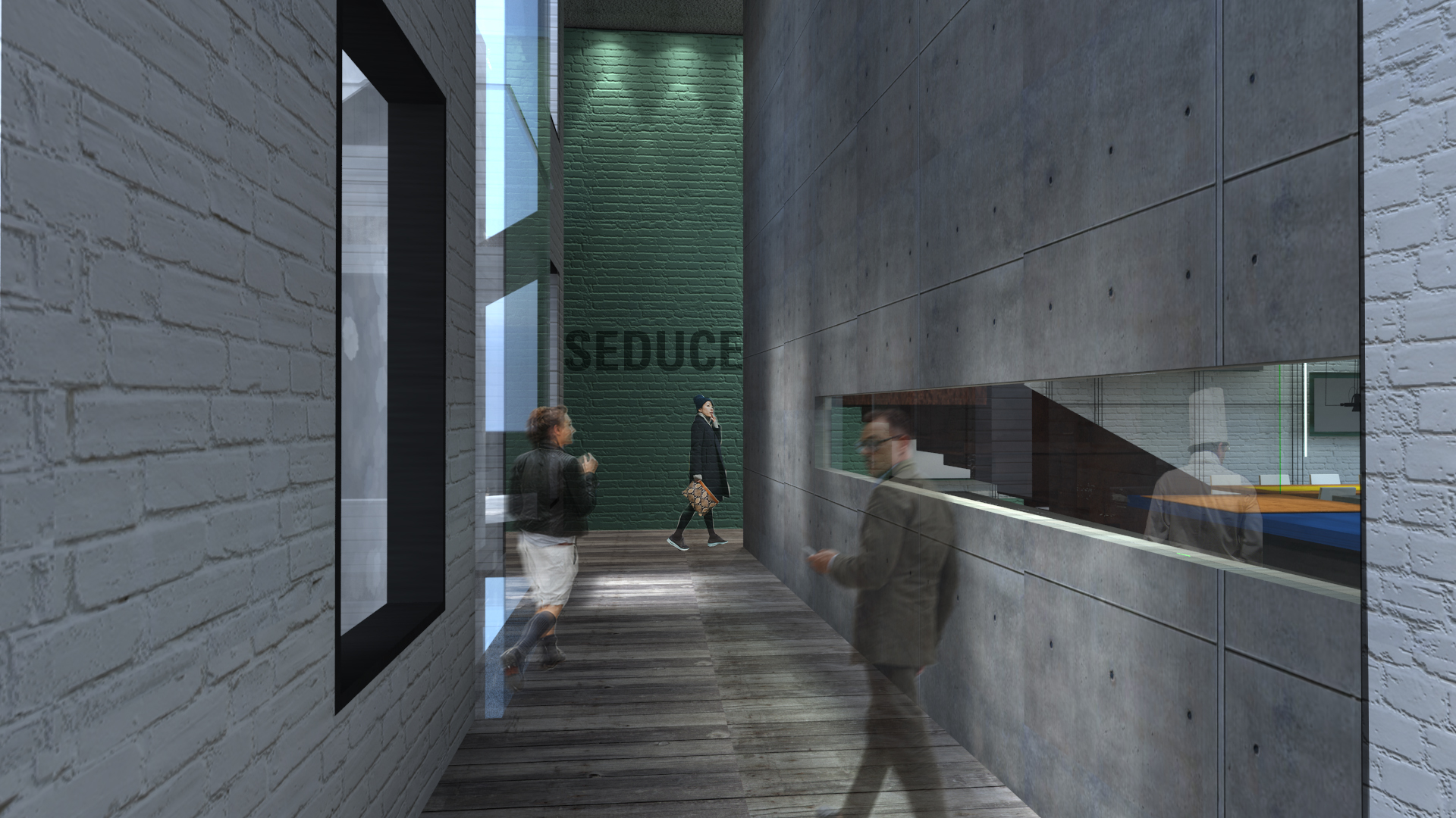 Approaching SEDUCE ME restaurant, you are seduced by the glimpse of what's going on next.