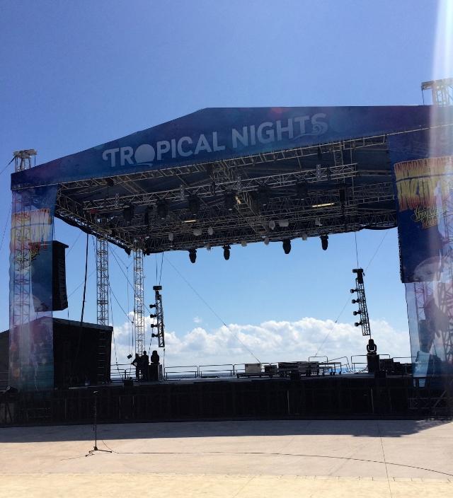 Tropical nights, puerto morelose, mexico