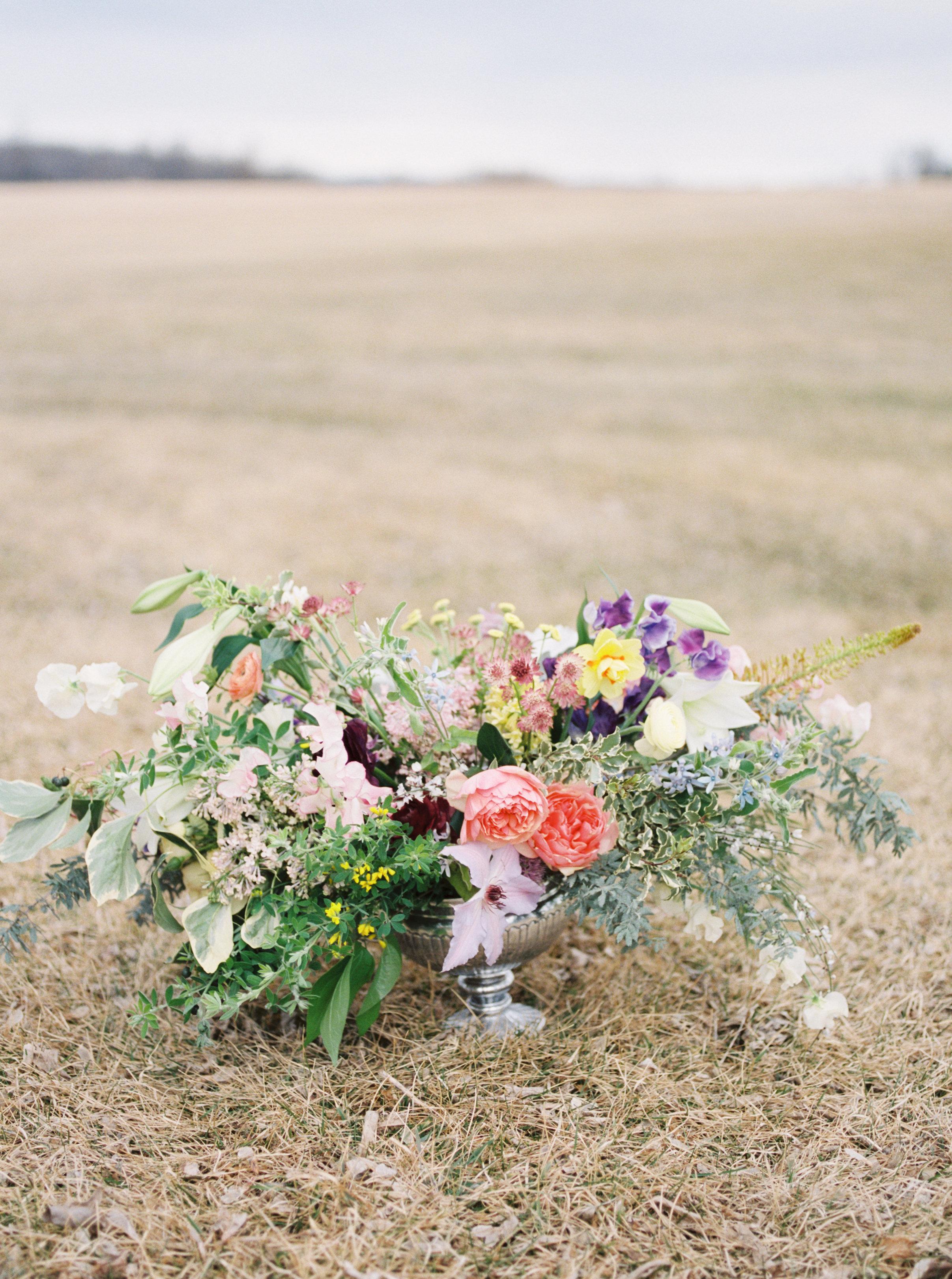 Spring centerpiece by Flora & Ephemera