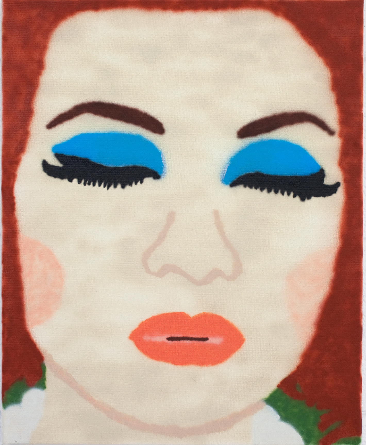 "Nicole Reber Her Sister, 2016 20"" x 30"" Acrylic on canvas SOLD"