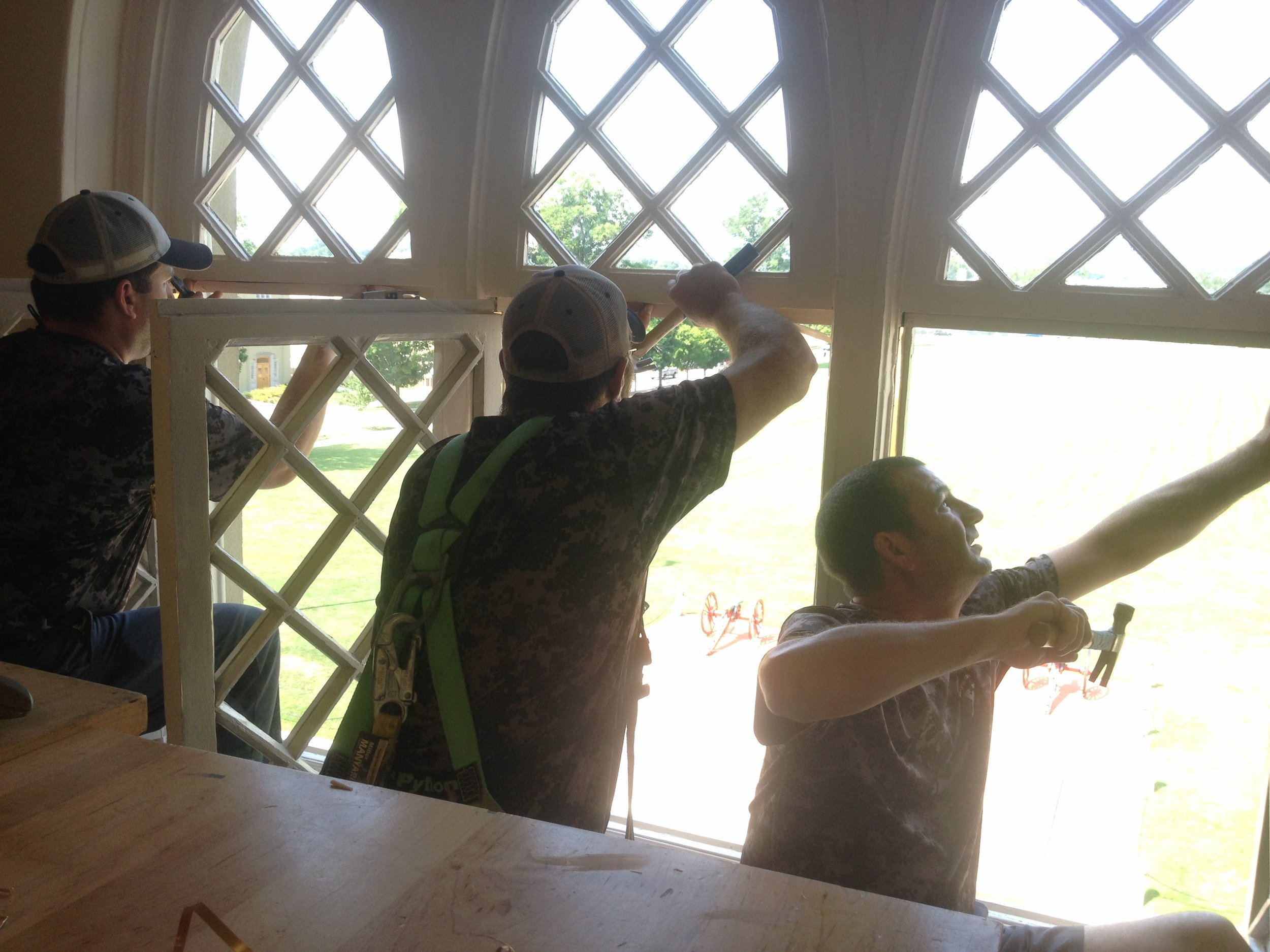 VMI employees were trained in basic installation and window maintenance, like installing copper weatherstripping.