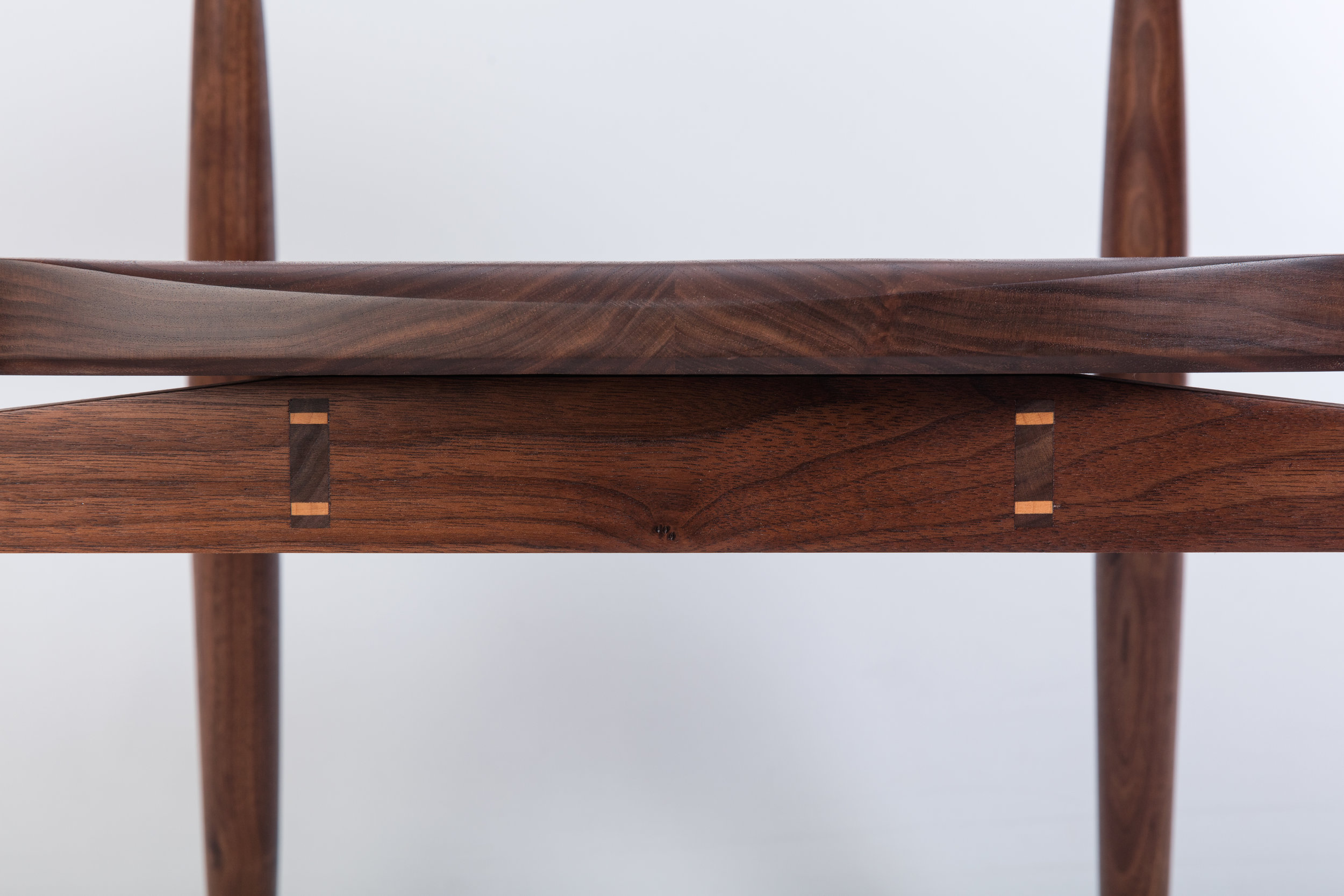Detail of exposed joinery in  Anna's Chair