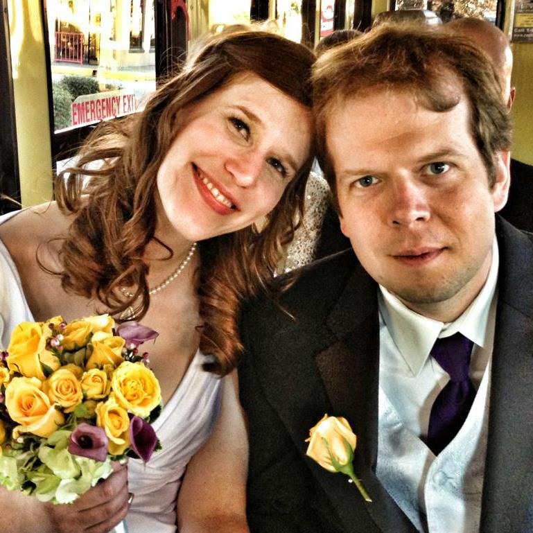 Full Disclosure: My big brother used his iPhone to take this photo of my husband and I on our wedding day. It has been my Facebook profile pic for almost three years now...