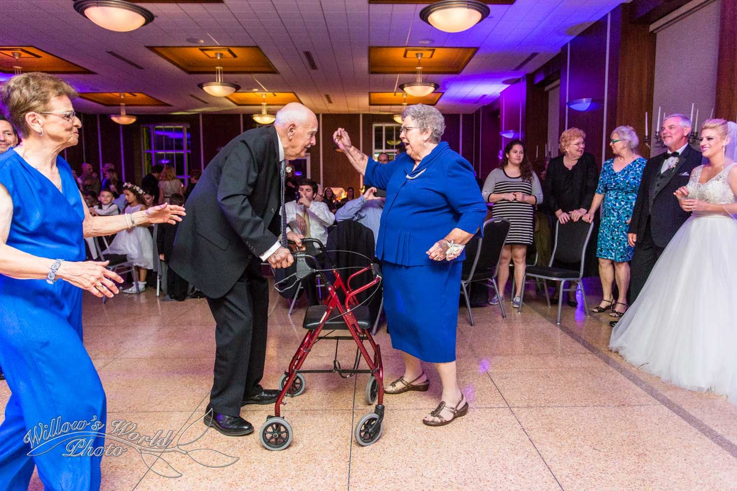 "And we certainly can't forget the grandparents abandoning their walker once ""Proud Mary"" came on!"
