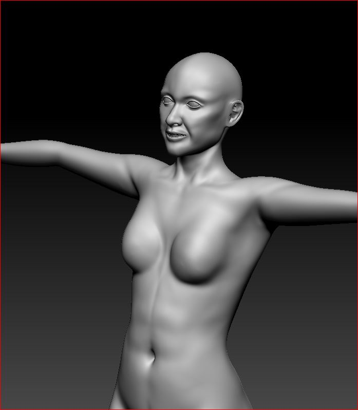 Early progress on the High Poly Sculpt in ZBrush. The character's mouth, particularly, needs more work, but it's a start.