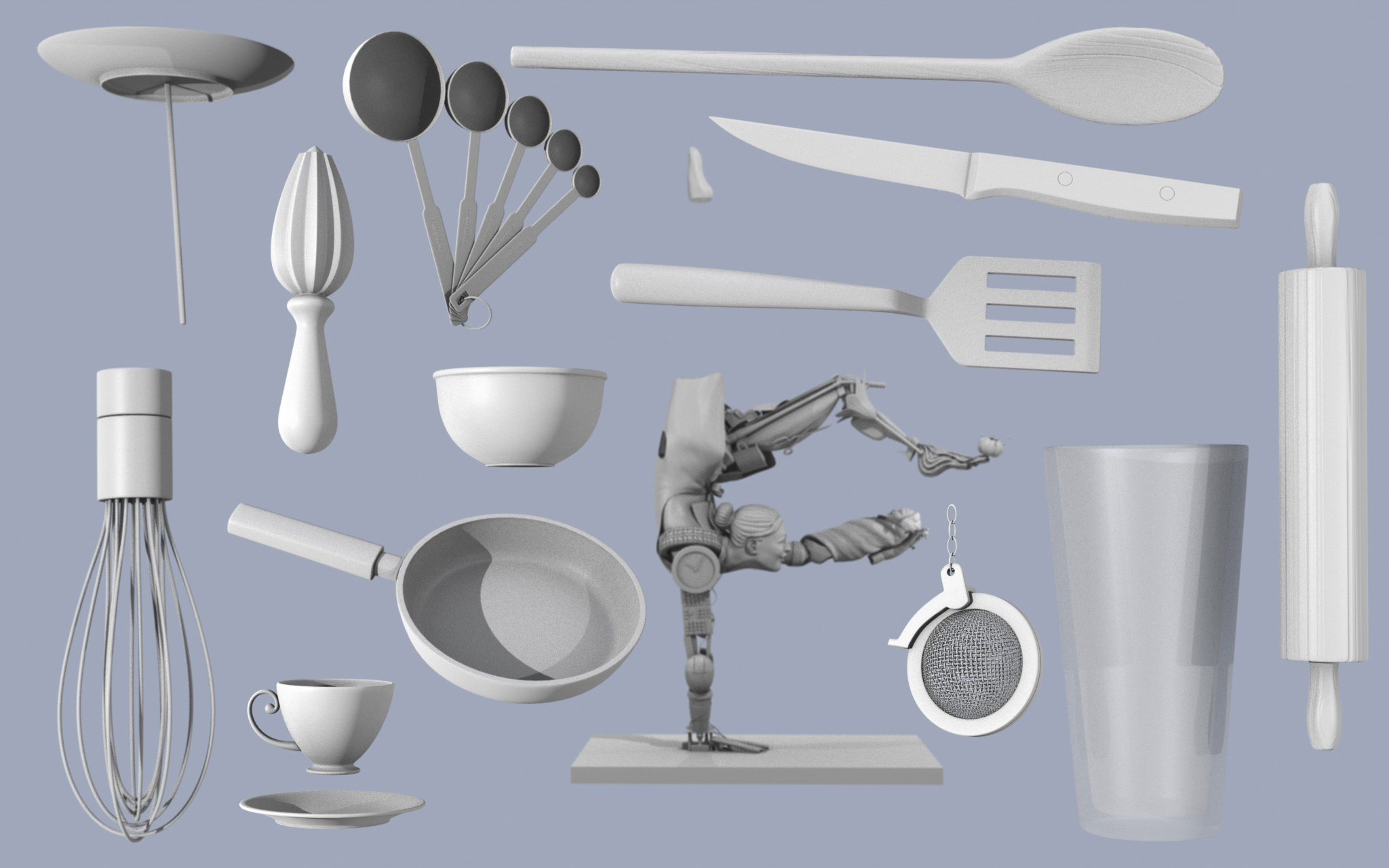 Juggler Right Leg - Kitchen Props - final render