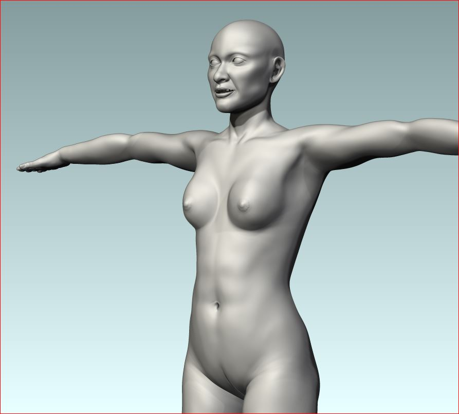 High poly sculpt for normal map completed in ZBrush.