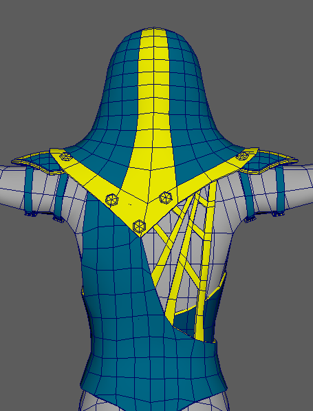 Low Poly Clothing Progress- Back View