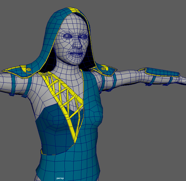 Low Poly Clothing Progress - Front View