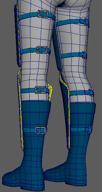 Low Poly Clothing Progress - Lower Back View