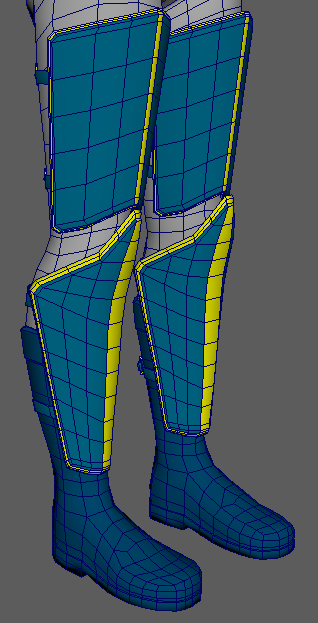 Low Poly Clothing Progress - Lower Front View