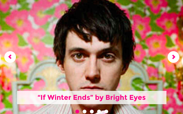 "For the next 6 or so weeks,  Octopus Books  will take over  Coldfront's Poets Off Poetry , in that its editors and authors will contribute a Song of the Week.  I got things rolling over there  with ""If Winter Ends"" by Bright Eyes."