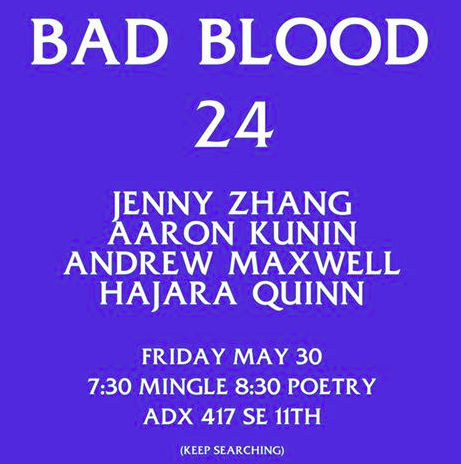 BBXXIV     And if you need more poetry that day, Jenny Zhang will lead a poetry workshop at ADX from 2pm to 4pm before the reading. Stop not signing up for good things.