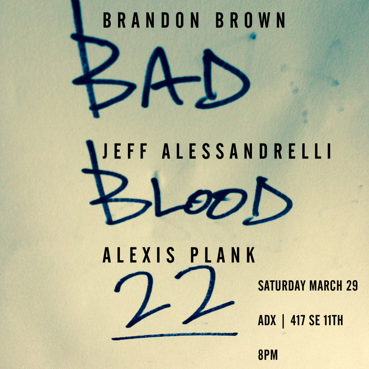 This blood  is getting pretty bad. Tell your estranged. Bad Blood.