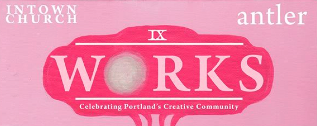 Some art is going to be happening at The Old Church downtown tomorrow night, the 9th annual Works . A little bit of my art is going to happen there too. And a little bit of your ten bucks at the door will go to benefit p:ear, a local non-profit that mentors homeless youth.
