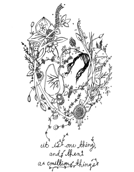 "A while back,  Meera Lee Patel , a self-taught artist and illustrator living in Brooklyn, designed a tattoo for someone based on a poem of mine from   The Man Suit   called ""The Lung and Haircut."" That someone didn't get the tattoo after all, which means that it is just sitting sadly in one of Meera's drawers in her desk instead of on someone's body. I think it is beautiful. Maybe you should get it on your body.  Or maybe at least you should go check out Meera's site and buy some damn art."