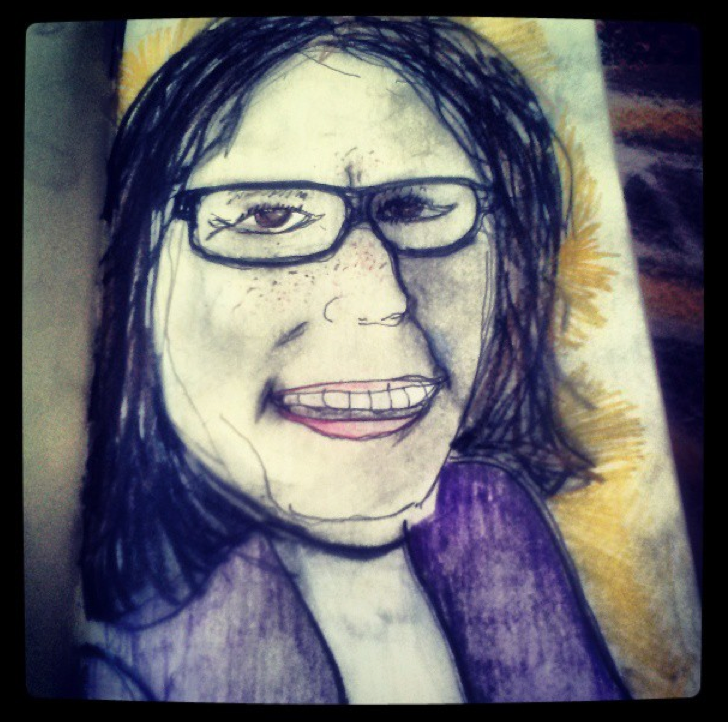 Happy National Draw Your Mom's Face Day, Mom! I love and drew you.