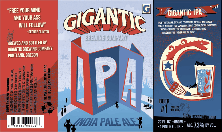 It's official: Portland's own,  Gigantic Brewing , is now the proud sponsor of the  Bad Blood Reading Series . We're excited for you to check out their beer at the next reading on January 10, at  ADX , with Ben Mirov, Rebecca Farivar, Brian Foley, and Elaine Kahn (more info on that to come). And if you can't wait until January to learn about Gigantic, you can come to the  Publication Fair  on Sunday, where we'll be sitting on a case. And, of course, you can always check them out on your own.  Here's a bit more info about its brewers, Van Havig and Ben Love .