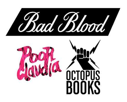 We're moving things around over at the  Octopus headquarters . So:  Octopus Books  and  Octopus Magazine  have now merged with  Poor Claudia  and the  Bad Blood Reading Series . Poor Claudia will be our poetry chapbook imprint, and Bad Blood will be our occasional Portland-based reading series. Drew Swenhaugen, the co-editor of Poor Claudia, co-curator of Bad Blood and designer at Octopus Books,  discusses the merger, and fields some questions about Bad Blood, in an interview  with Elizabeth Pusack over at  Coldfront .