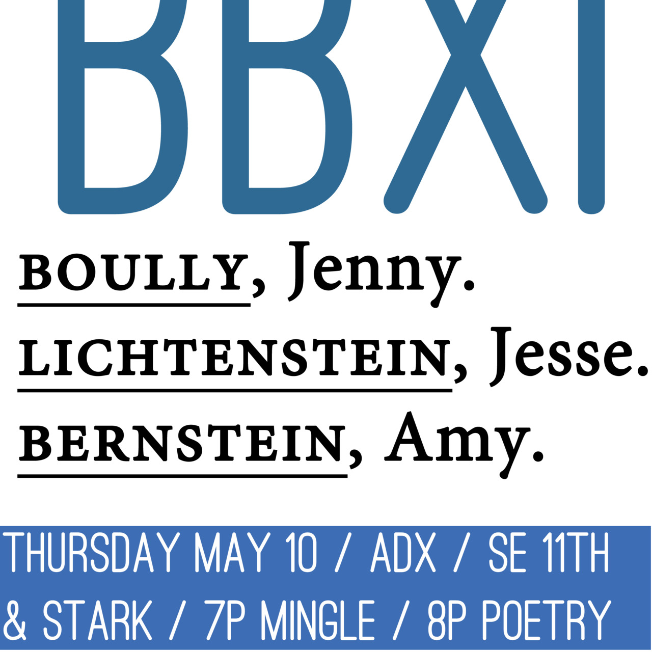 BAD BLOOD XI. Keeping it bloody. See you next Thursday.